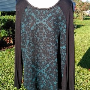 Maurices Size 0 Turquoise & Black Women's Top